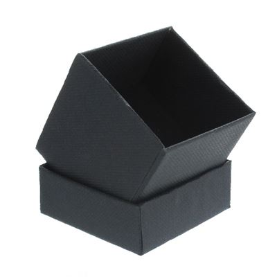 Black Gift Box with Foam Insert Small Square
